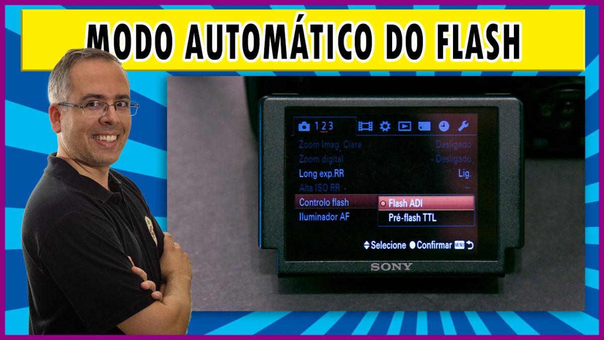 Modo automático do flash não é TTL