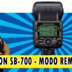 Speedlight SB-700 Nikon – Configuração do modo remoto