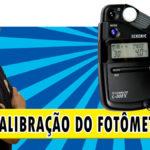 Calibração do fotômetro Sekonic L308-X