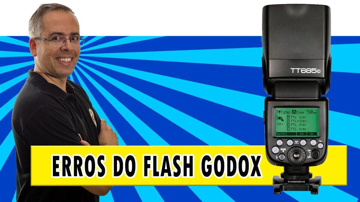 Códigos de erro do flash Godox